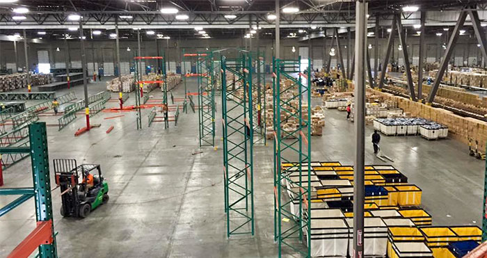 warehouse services pallet rack installation