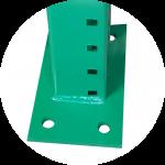pallet racks upright base plate